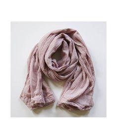 Szalik Gauze Scarf Pink pudrowy róż