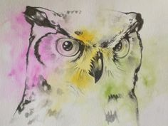 Watercolor Owl by Virginia Poltrack