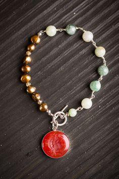 Goddess Jade and Pearl Bracelet