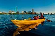 Paddling in the Charles river (Boston, MA)