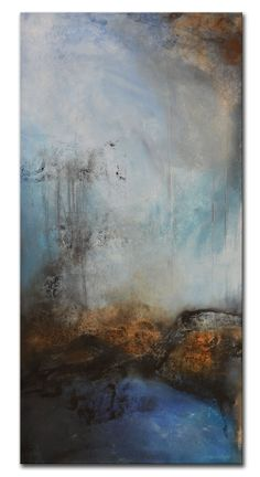 Rust - 36x18 - Mixed media on canvas