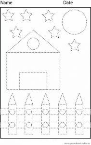 trace-lines-worksheet-and-color-the-picture