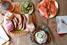 Joy the Baker – Whole Wheat Flat Bread with Herb Yogurt Cucumber Dip