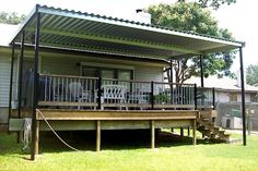 Covered Deck 16x20 with metal roof | double wide queen ...