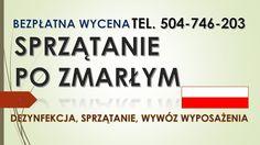 Sprzątanie mieszkań po śmierci lokatora. Dezynfekcja miejsca po zgonie. tel. 504-746-203. Wrocław, Oleśnica, Trzebnica, Strzelin, Strzegom, Legnica, Środa Śląska, Bielany Wrocławskie, Oława.