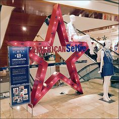 Take advantage of this center store American Icon display to star in your own selfie along with the Macy's® Star Logo. Star Logo, H Style, S Star, Visual Merchandising, Display, Selfie, Marketing Strategies, Retail, Color