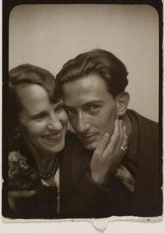 "Salvator Dali and Gala - photobooth,  1930's. ""At the age of six I wanted to be a cook. At seven I wanted to be Napoleon. And my ambition has been growing steadily ever since."""