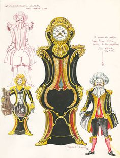 Cogsworth 7 of 16 / 16 Pieces of Enchanting Concept Art from Beauty and the Beast Beauty And The Beast Costume, Disney Beauty And The Beast, Beauty Beast, Broadway Costumes, Theatre Costumes, Theatre Props, Disney Princess Tattoo, Disney Princess Dresses, Punk Princess