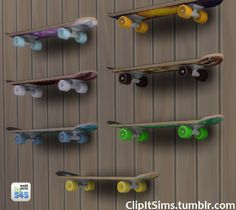 Functional skateboard shelf at Clipit Sims via Sims 4 Updates