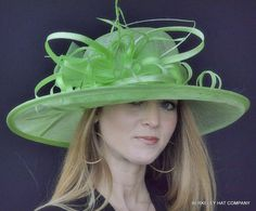Kentucky Derby Hats | One Size Fits Most with inner French style adjustable band.