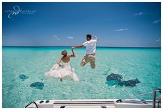 Trash the dress in the Cayman Islands -- destination wedding