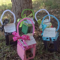 More bird feeders made by my 1st graders for Mother's Day