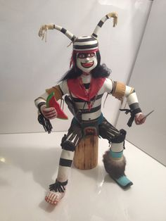 Large Antique Koshari Clown Kachina by SquarePegAntiques on Etsy 250