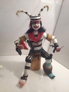 Large Antique Koshari Clown Kachina by SquarePegAntiques on Etsy 250