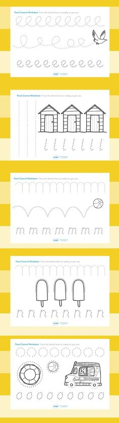 Free Line Handwriting Worksheets #preschool #freebie #printable