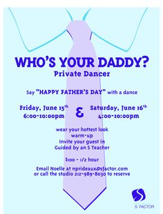 Anniversary? Birthday? Father's Day? Just because it's Saturday?!?! Enjoy a Private S with your significant other. June 15th & 16th 2012!