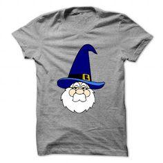 Wizard in blue hat