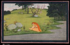 """""""The Sorrow of Radha,"""" Folio from the dispersed """"Second"""" or """"Tehri Garhwal""""  Gita Govinda (Song of God)"""