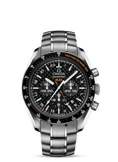 Relojes OMEGA: Speedmaster HB-SIA Co-Axial GMT Chronograph Numbered Edition 44,25mm - Titanio con Titanio - 321.90.44.52.01.001