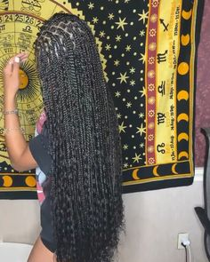 53 Box Braids Hairstyles That Rock - Hairstyles Trends Cute Box Braids Hairstyles, Box Braids Hairstyles For Black Women, Hair Ponytail Styles, Braids Hairstyles Pictures, Black Girl Braids, Braids For Black Women, African Braids Hairstyles, Baddie Hairstyles, Braids For Black Hair