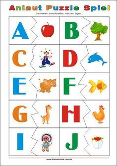 Anlaut Puzzle Spiel für Vorschulkinder und Erstklasse-Kinder