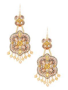 Topaz & Gold orecchini di goccia