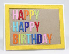 Happy Birthday To You Die-namics, Stitched Rectangle Frames Die-namics - Jody Morrow #mftstamps