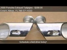 2000 Porsche Exhaust Tailpipes (Elbow Type) - for sale in Miami Fl 33054 http://www.oemcarwheels.com/inventory.aspx