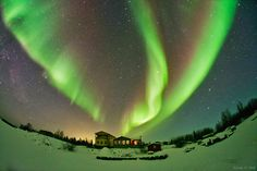 Northern lights above Yellowknife, Canada. /#aurora #Northern_Lights