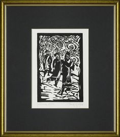 Jerzy Duda Gracz   GRAJKOWIE, Z CYKLU JUDAICA, 1964   linoryt, papier   17.3 x 11.5 cm