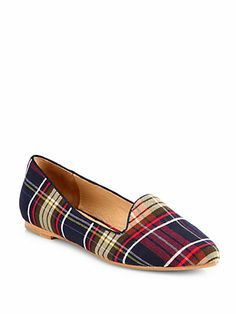Day Dreaming Tartan Canvas Smoking Slippers
