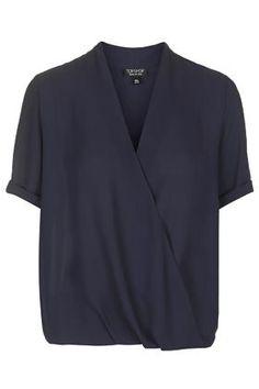 topshop Short Sleeve Drape Blouse Price: £32.00
