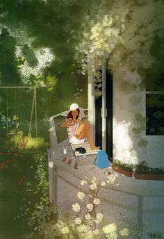 Back porch story by PascalCampion.deviantart.com on @DeviantArt