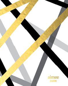 metallic paper stripes - LifePlanner™