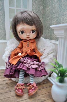 OOAK Custom Toffee doll Tippy by Shell, Blythe, BJD Friend