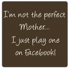 I know a couple of these!  Funny thing is everyone aound them knows the posts are just BS.  Its easy to smile for a picture.  A real mom is there when the smiles are replaced with whines, cries, gripes, snores, achy tummies, sore throats, homework trouble, afternoon carpools, dinner time, night-night prayers........