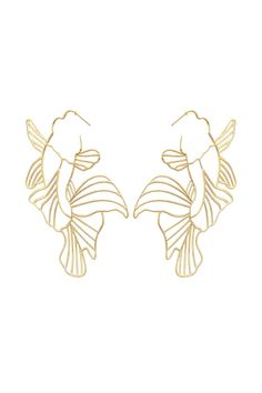 These earrings are made of sterling silver and has been goldplated with 22 karat gold. Koi carp fish are constant symbols of luck, good fortune and prosperity. These earrings are currently out of stock. Gold Plated Earrings, Gold Earrings, When Is Valentines Day, Koi Carp Fish, Ideas Joyería, Fish Drawings, Jewelry Art, Jewellery, Body Art