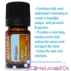 For everyone wondering why I smell so #yummy, this is my #secret ! #whisper #Doterra #doterrawhisper #fragrance #women #natural #jasmine #rose #cocoa #vanilla #bergamot #blend #therapeutic !! • Combines with each individual's chemistry to create a beautiful, unique, and personal fragrance • Provides a warming, musky aroma that entices the senses and intrigues the mind • Calms the skin and emotions