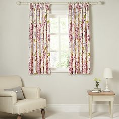 Buy John Lewis & Partners Wisteria Pair Lined Pencil Pleat Curtains, Pink / Purple, x Drop from our Ready Made Curtains & Voiles range at John Lewis & Partners. Purple Home Decor, Purple Bedding, Printed Curtains, Pencil Pleat, Wisteria, Pink Purple, Blue, John Lewis, Lounge