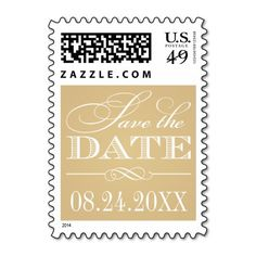 Wedding Save the Date | Classic Elegance Postage