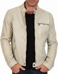 New Men's Genuine Lambskin Leather Jacket Slim fit Biker Motorcycle jacket-MX02 #LeatherLifestyle #Motorcycle