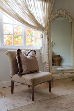Garden Design, Accent Chairs, Curtains, Interior, Furniture, Home Decor, Upholstered Chairs, Blinds, Decoration Home