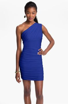 Soprano Ruched One Shoulder Dress (Juniors) | Nordstrom
