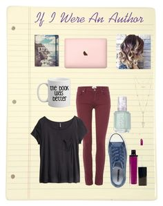 """""""An Author"""" by girluntold ❤ liked on Polyvore featuring Paige Denim, H&M, Converse, Laura Mercier, Essie, House of Harlow 1960, creativewriting and ifiwaschallange"""
