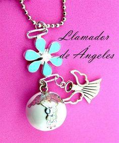 M11 Llamador de Ángeles con flor de la vida 2.2cm Incluye cadena