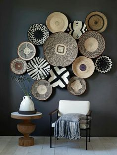 Global Baskets as decor