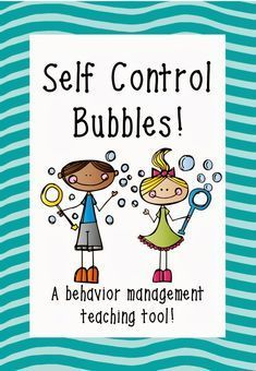 Self-Control Activity Sheet | of how to complete the self control bubbles activity a label for your ...