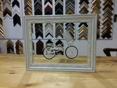 Little bike in frames.  #wanhanvillantaide #customframing