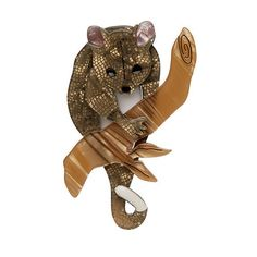 You will hear me but most likely never see me. An adventure awaits anyone seeking the secret of my invisibility. Height 7 cm Width 5 cm Info Each piece is h Possum Magic, Quirky Gifts, Resin Jewelry, Jewellery, Vintage Brooches, Tigger, Mammals, Brooch Pin, Vintage Designs