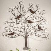 Found it at Wayfair - Tree with Bird Design Wall Decor- Use as headboard?